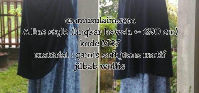 Produk Gamis murah Ummu Sulaim Aline style Gamis ialah produk gamis made by Ummusulaim.com yakni gamis dengan bahan soft jeanddengan paket jilbab wolfis.  Aline style Kode M37 Bahan Gamis […]